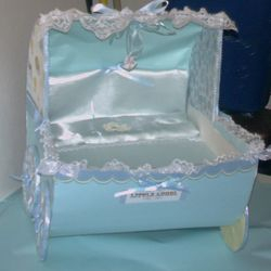 Baby Boy Baby Carriage Centerpiece MADE TO ORDER