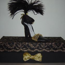 Stiletto High Heel Shoe Sculpture with keepsake gift box