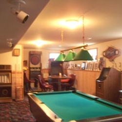 Pool table in basement, no quarters needed