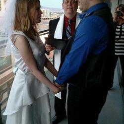 KC Richard & Kaitlyn Van Sickle With Rev. Bryan