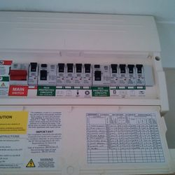 Replacement dual RCD Consumer Unit.