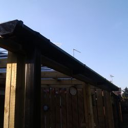 Guttering for lean to roof.