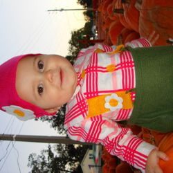 Our little Garden Gnome... belly full of milk and excited to be at the pumpkin patch.