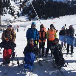 Mono Skiers in La Plagne