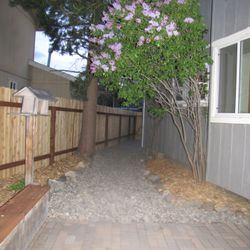 After we landscaped the walkway area.