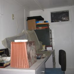 downstairs office where the flashlight went out.