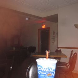 large red orb, was this because of the exit sign?