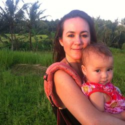 Maggie Blue and Bella Star at Teman Petanu, an eco village in Bali