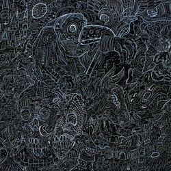 Plague Rider 48'' X 48'' ink/acrylic/oil Canvas 2018