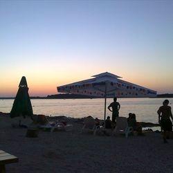 Štinjan Beach at night