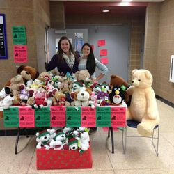 Donations from our very first Sweet Dreams Teddy Bear Drive in Dec. 2013.