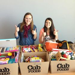 Donations from our very first Crafts for Kids Drive in 2013.