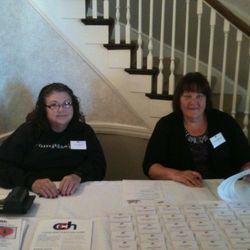 Thank You to the Swines that volunteered at Cleveland Christian Home on 10/12/13. Patti Gibbons & Diane Dibianca at the registration table.