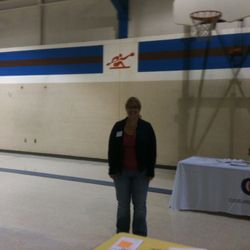 Michelle Haba helping set up lunch at CCH on 10/12/13.