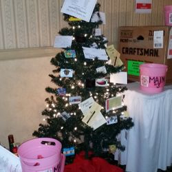 Gift Card Tree Donated by local businesses and the Swine Sisters.