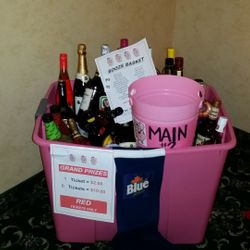 Booze Basket donated by The Swine Sisters.