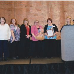The 2013 Top Hat Award was given to the Swine Sisters, Inc. by the Cuyahoga County Board of Developmental Diabilities. We were nominated by The Maple Hts Adult Activity Center