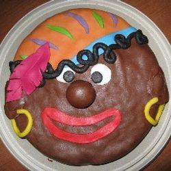 Pukkelpiet (deze taart werd wat hobbelig door de appel die er in zat) - december 2011