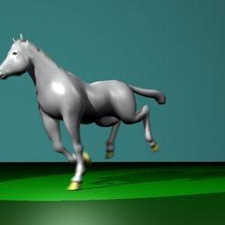horse rig and gallop animation, Maya