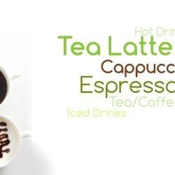 Tea Lattee Espresso Ice Tea and Tea cappuccino