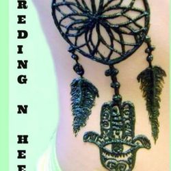 hamsa dream catcher henna