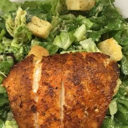 Caesar Salad With Blackened Grouper