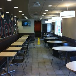 Renovations to dining area in McDonalds, Prince Rupert.