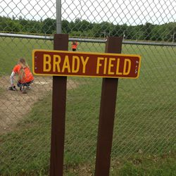 Brady Field was dedicated to Myron Brady for his 40 years of service to the Youth of Westville.