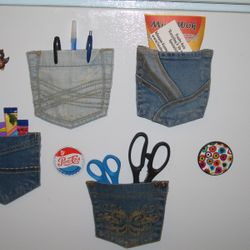 Denim Pocket Magnets