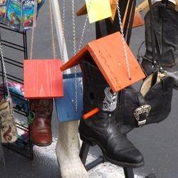 Cowboy Boot Birdhouses & Bird Feeders