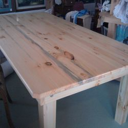 """Dinning table 42""""x84""""  Solid/thick top Discounted $450"""
