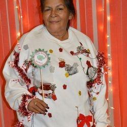 Juanita M. Winner of the Ugly sweater December 2016