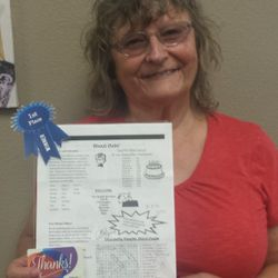 Patty J. Winner of our first newsletter