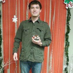 Wyatt E. Winner of the Holiday Basket raffle December.