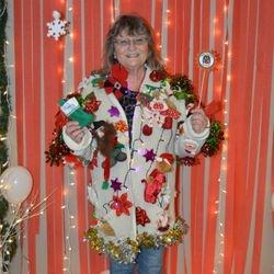 Patty J. Winner of the Uglier Sweater December 2016
