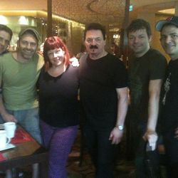 the band with Carnie and original Toto singer Bobby Kimball in Manila!