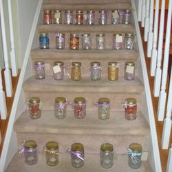 The Mason Jars donated by the Mount Art Club for the Drueding Center in December 2012