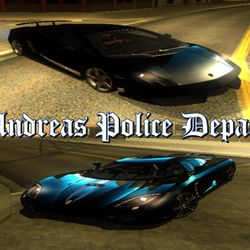 SAPD Highway Patrolling Unit Vehicles (Euros : Gallardo LP570-4 & Banshee : K-Agera)
