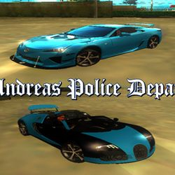 SAPD Special Response Unit Vehicle (Cheetah : Lexus LFA & Comet : Bugatti Veyron 16.4 Grand Sport)