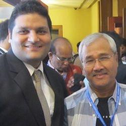 With Acclaimed Director Jhanu Barua at EME Awards 2013
