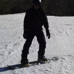 First attempt at snowboarding... a few seconds before the constant falls