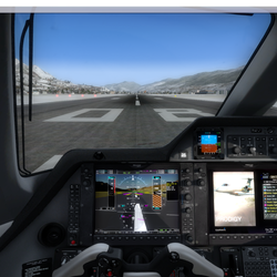 Garmin G1000 Synthetic Vision System in Phenom 300