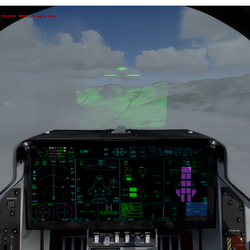 Head Up Guidance System with Synthetic Vision Overlay in F35