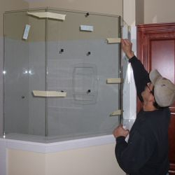 Installing Shower Glass