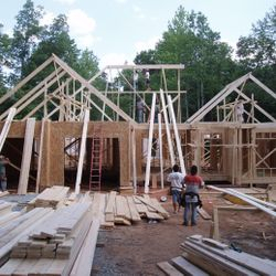 Roof Framing Begins