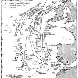 Operation Torch Invasion Route