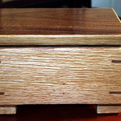 Red oak & Black Walnut keepsake Box