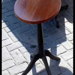 Pine with Mahogany top candle stand