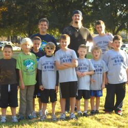 "The kids with big Matt Patchan, (6'7"" - 300lbs!) currently with the Tampa Bay Buccaneers!"