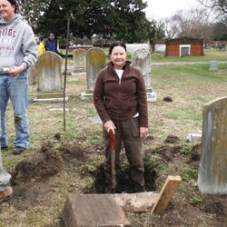 Conservation Volunteers Unearthing Buried Monuments